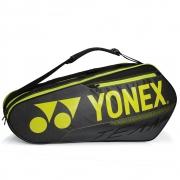 Raqueteira Yonex  X6 Team - Preta com Amarelo Dupla