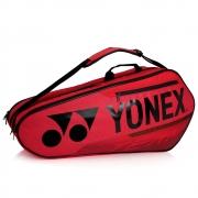 Raqueteira Yonex  X6 Team - Vermelha e Preta Dupla