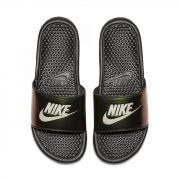 Sandalia Nike Benassi Preto e Verde