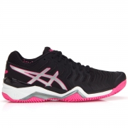 Tênis Asics Gel Resolution 7 Clay - Feminino - Preto e Rosa