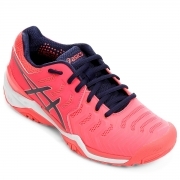 Tênis Asics Gel Resolution 7 - Feminino - Azul e Pink - All Court