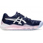 Tênis Asics Gel Resolution 8 All Court Marinho Branco e Rosa