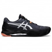 Tenis Asics Gel Resolution 8 Clay L.E.  Preto e Laranja