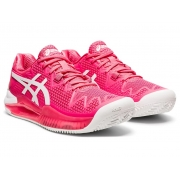 Tênis Asics Gel Resolution 8 - Feminino - Clay - Pink/Branco