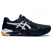 Tênis Asics Gel Resolution 8 French Azul e Branco