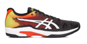 Tênis Asics Gel Solution Speed FF All Court Preto Amarelo e Laranja