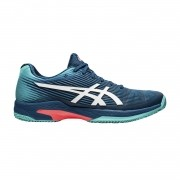 Tênis Asics Gel Solution Speed FF Clay Azul Mako e Branco
