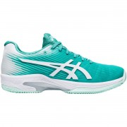 Tênis Asics Gel Solution Speed FF Clay Turquesa e Branco