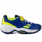 Tênis Babolat Pulsion All Court Kid - Azul e Amarelo