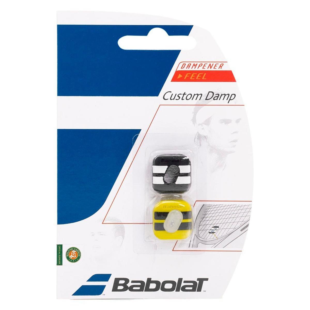 Antivibrador Babolat Custom Damp - Preto e Amarelo  - PROTENISTA