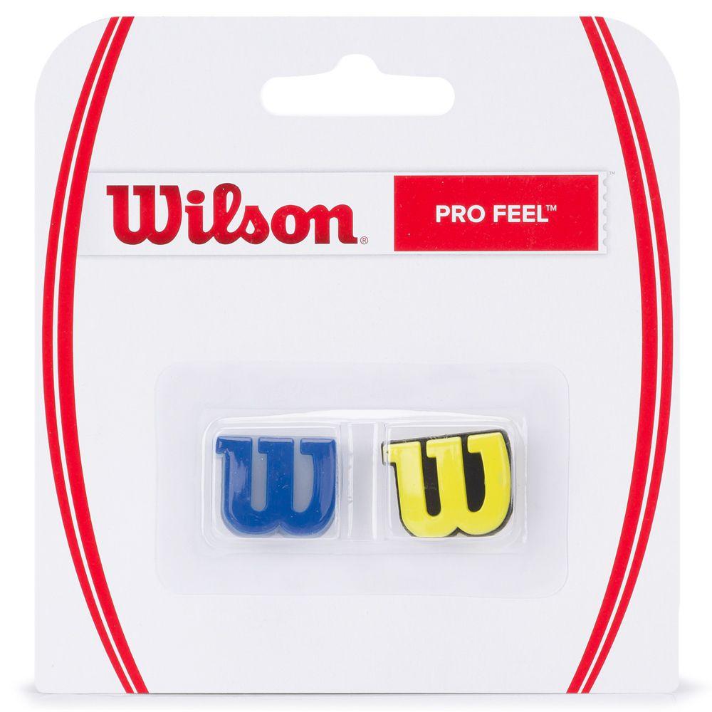 Antivibrador Wilson Pro Feel Azul e Amarelo   - PROTENISTA