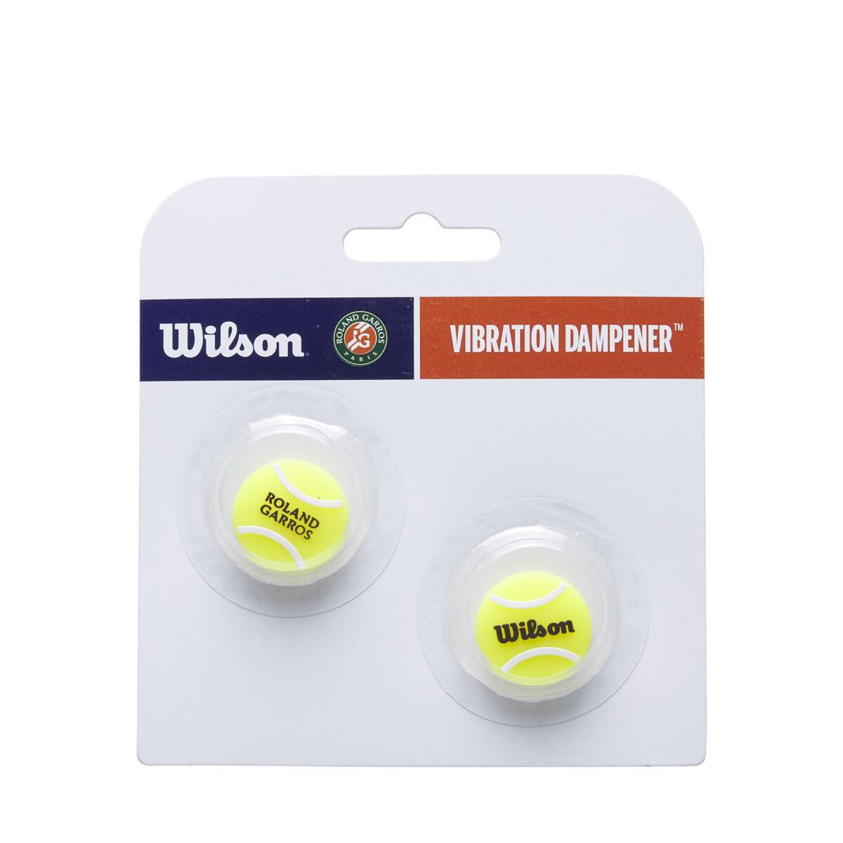Antivibrador Wilson Roland Garros Tennis Ball - Embalagem com 2 unidades  - PROTENISTA