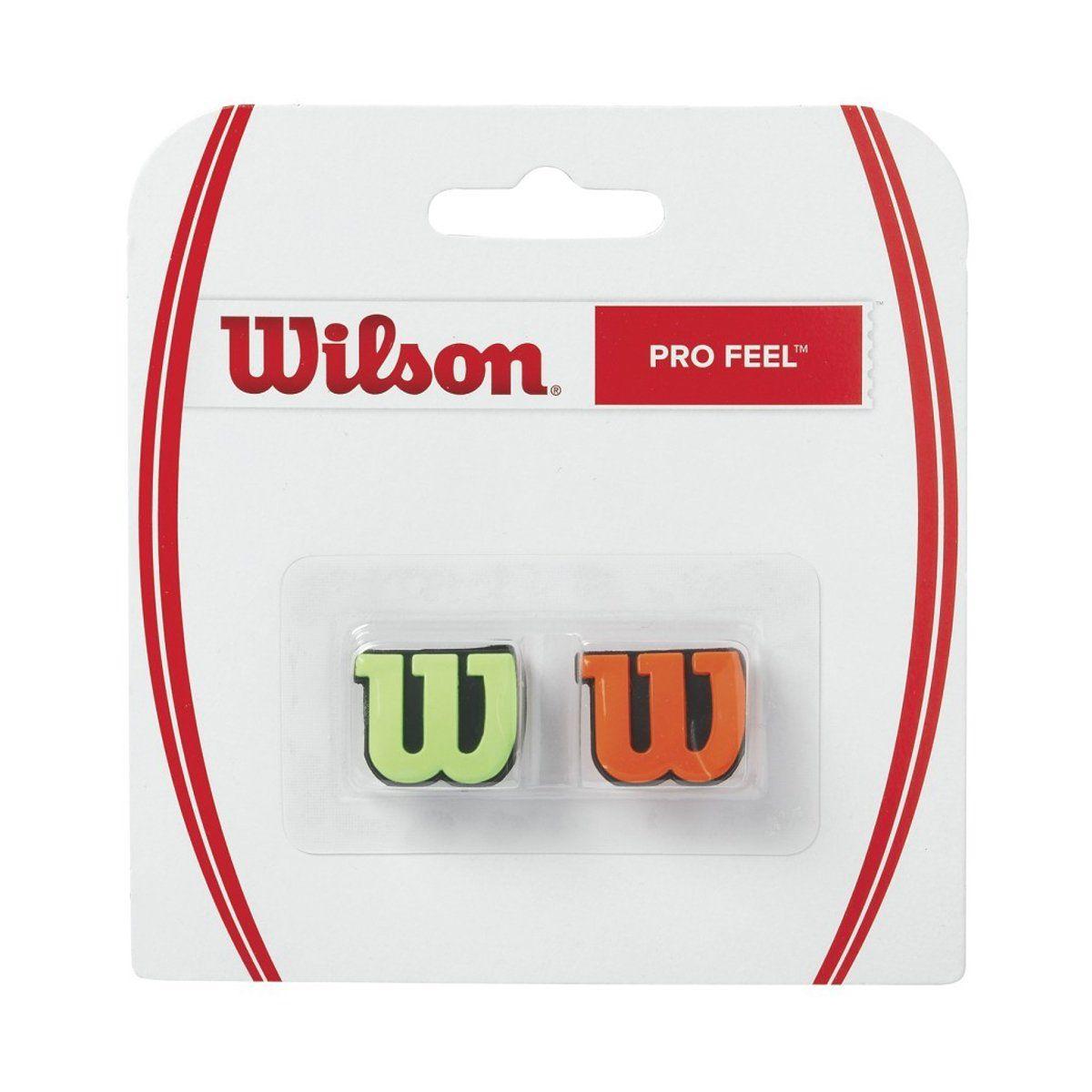 Antivibrador Wilson Verde e Laranja - Pro Feel   - PROTENISTA