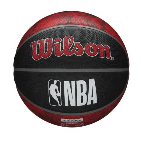 Bola de Basquete NBA Toronto Raptors Wilson Team Tiedye #7 - Preto e Vermelho  - PROTENISTA