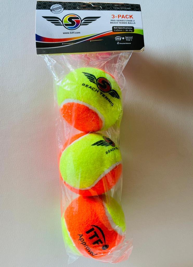 Bola de Beach Tennis Sexy Brand - Pack c/ 3 Bolas
