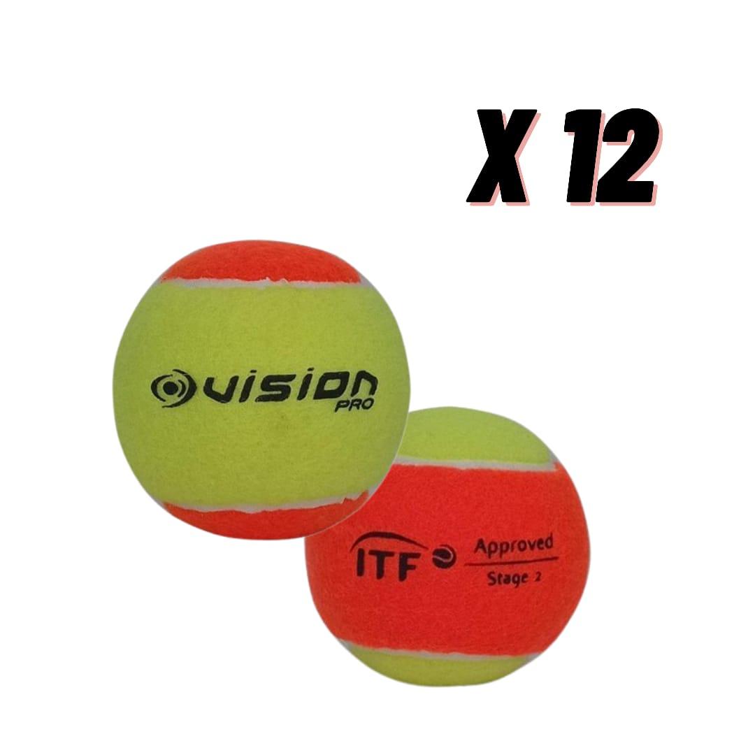 Bola de Beach Tennis Vision - Pack com 12 Bolas  - PROTENISTA