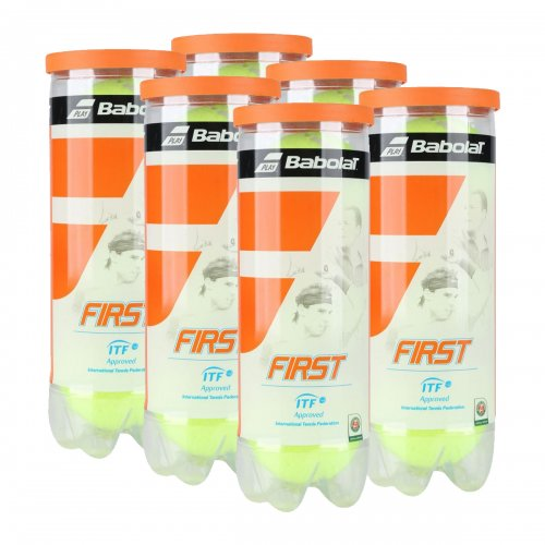 Bola de Tênis Babolat First - Pack c/ 6 Tubos