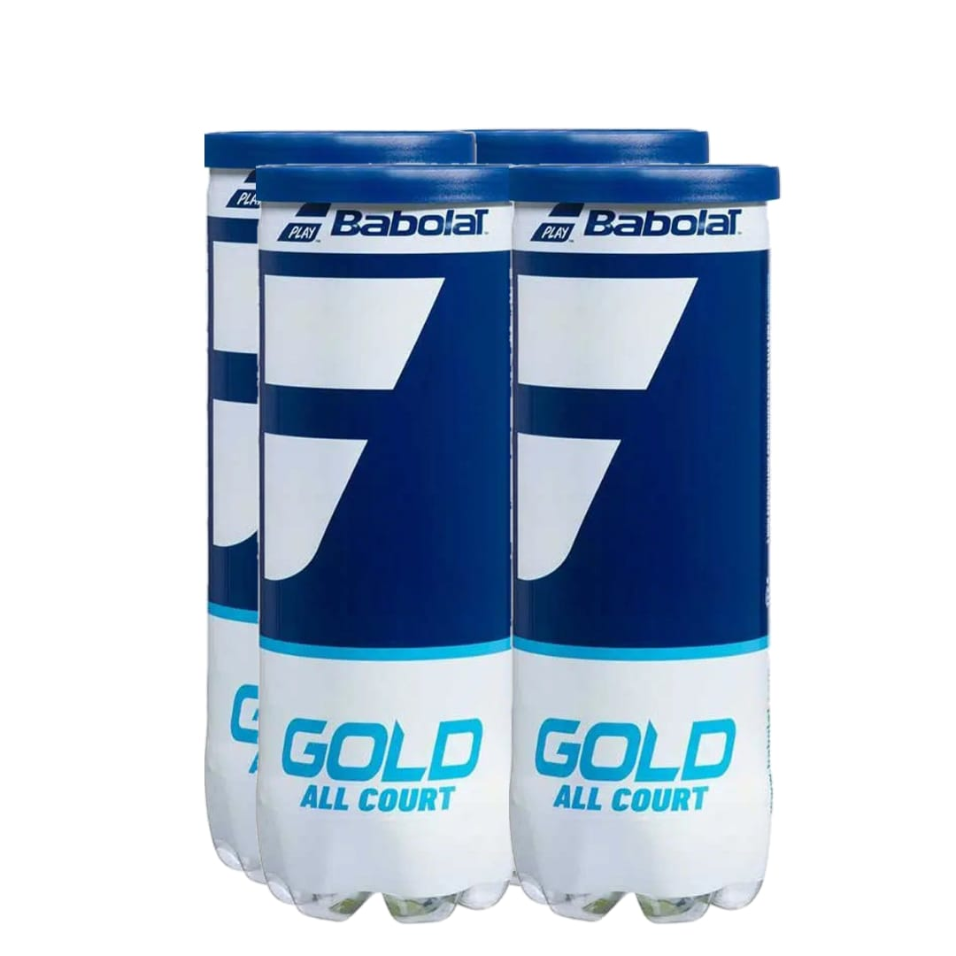 Bola de Tênis Babolat Gold All Court - Pack c/ 4 Tubos  - PROTENISTA