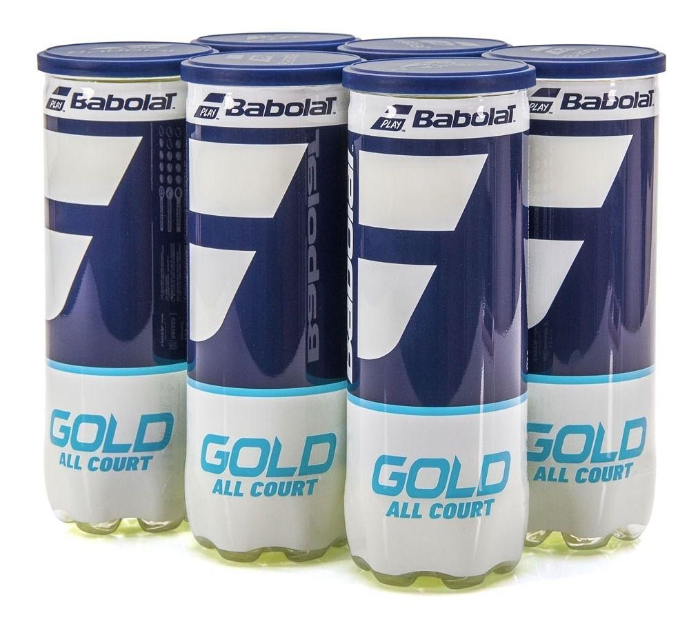 Bola de Tênis Babolat Gold All Court - Pack c/ 6 Tubos  - PROTENISTA