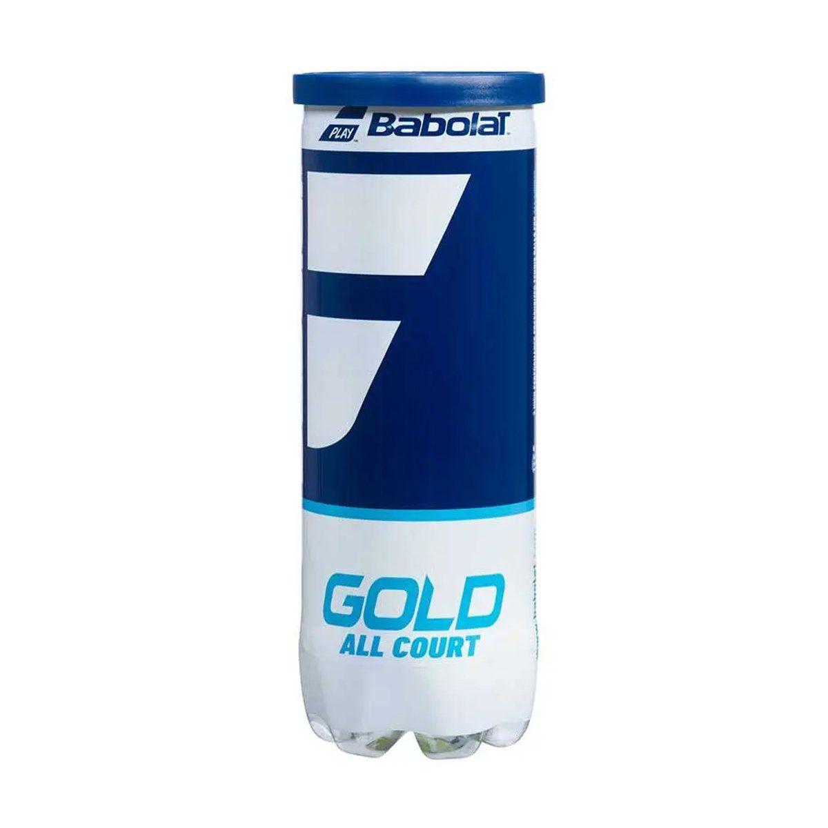 Bola de Tênis Babolat Gold All Court - Tubo c/ 3 bolas