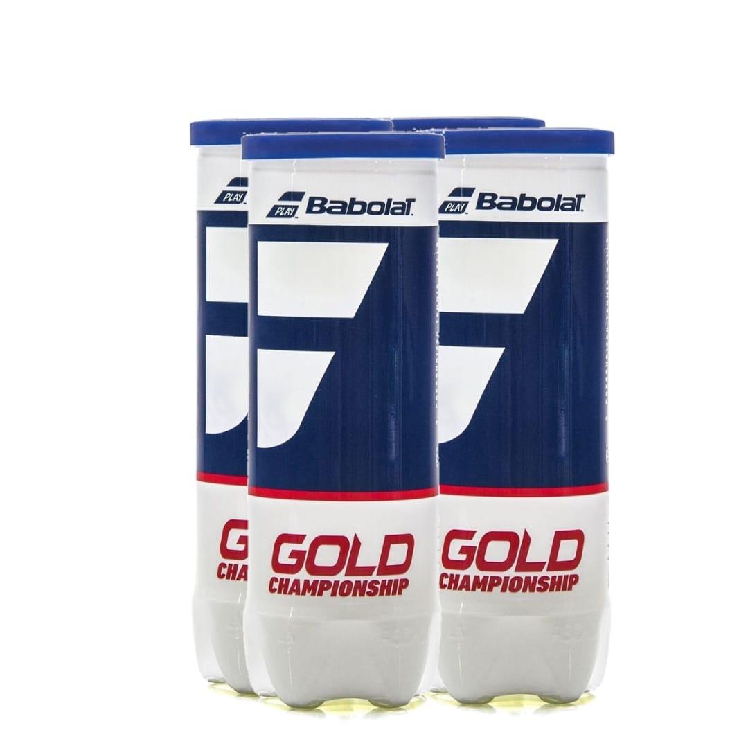 Bola de Tênis Babolat Gold Championship Pack c/ 4 Tubos  - PROTENISTA