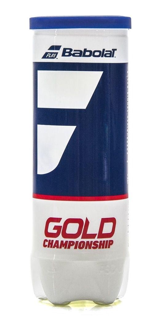 Bola de Tênis Babolat Gold Championship - Tubo c/ 3 Bolas   - PROTENISTA