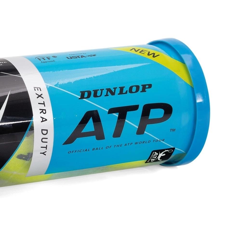 Bola de Tênis Dunlop ATP Championship Regular Duty - Tubo c/ 3 bolas  - PROTENISTA
