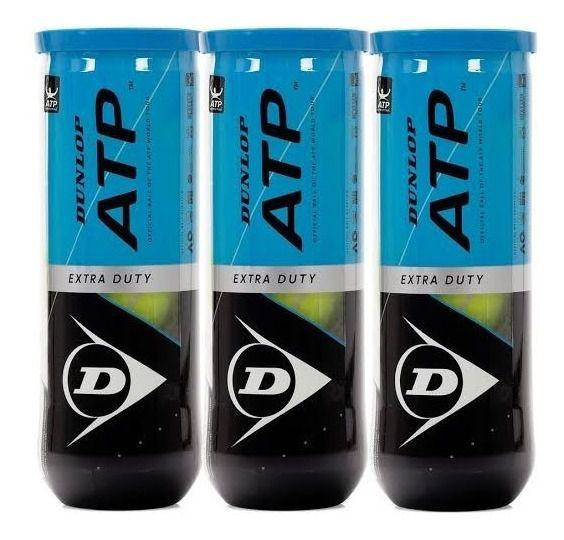 Bola de Tênis Dunlop ATP - Pack com 3 Tubos