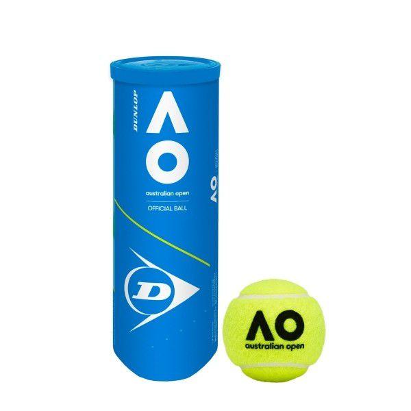 Bola de Tênis Dunlop Australian Open - 3 Unidades  - PROTENISTA