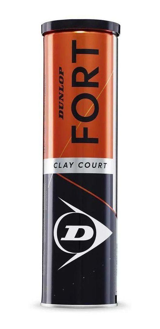 Bola de Tênis Dunlop Fort Clay Court Tubo c/ 4 Unidades  - PROTENISTA