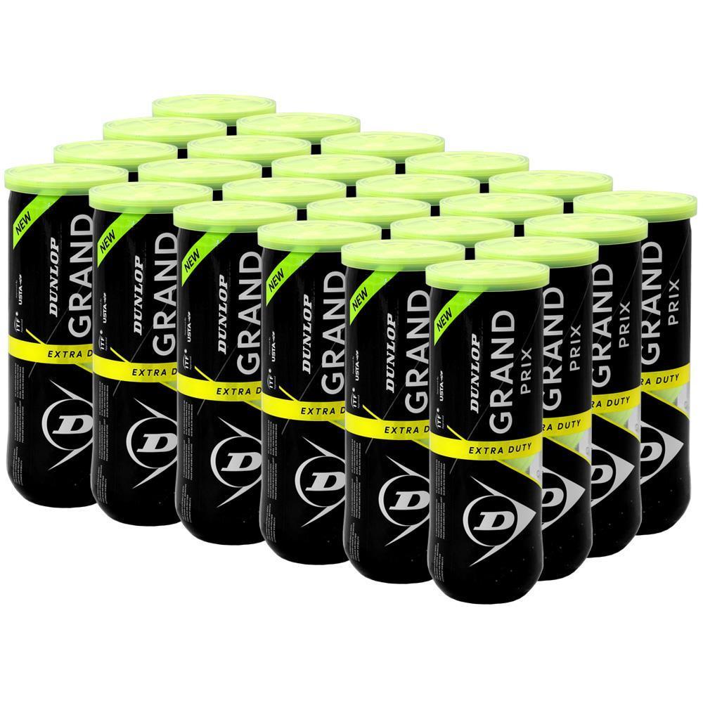 Bola de Tênis Dunlop Grand Prix - Extra Duty - Caixa com 24 tubos  - PROTENISTA