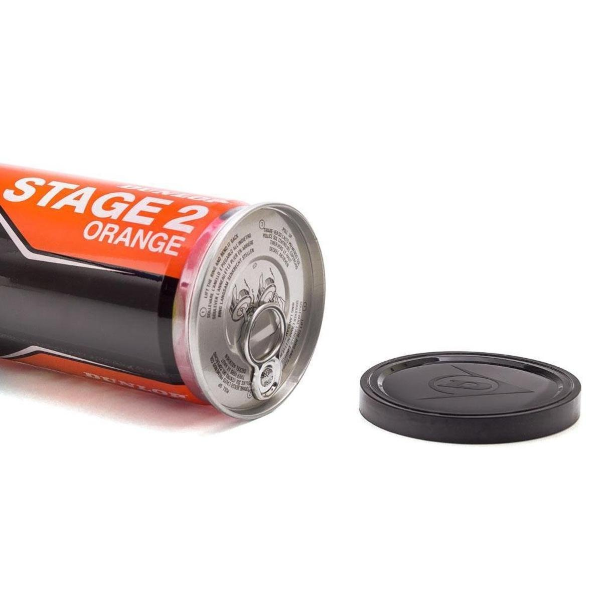 Bola De Tênis Dunlop Stage 2 Orange - Tubo Com 3 Bolas  - PROTENISTA