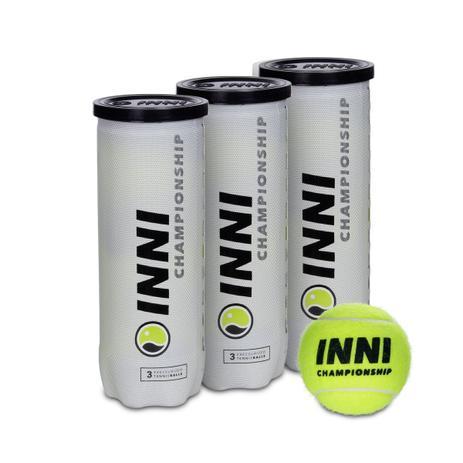 Bola de Tênis Inni Championship - Pack com 3 Tubos  - PROTENISTA