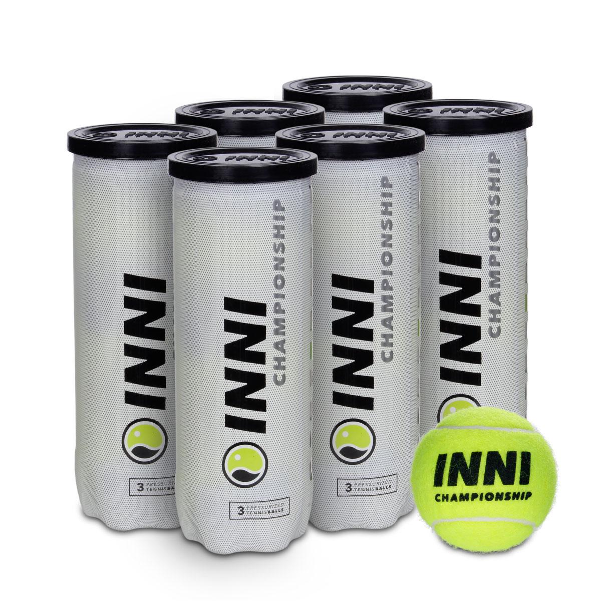 Bola de Tênis Inni Championship - Pack com 6 Tubos  - PROTENISTA