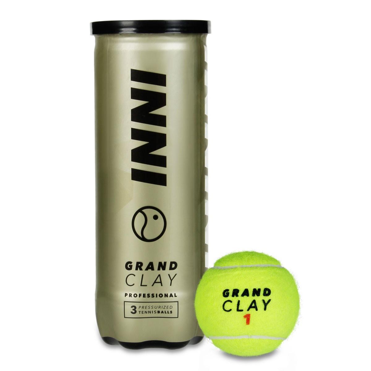 Bola de Tênis Inni Grand Clay - Tubo com 3 bolas  - PROTENISTA
