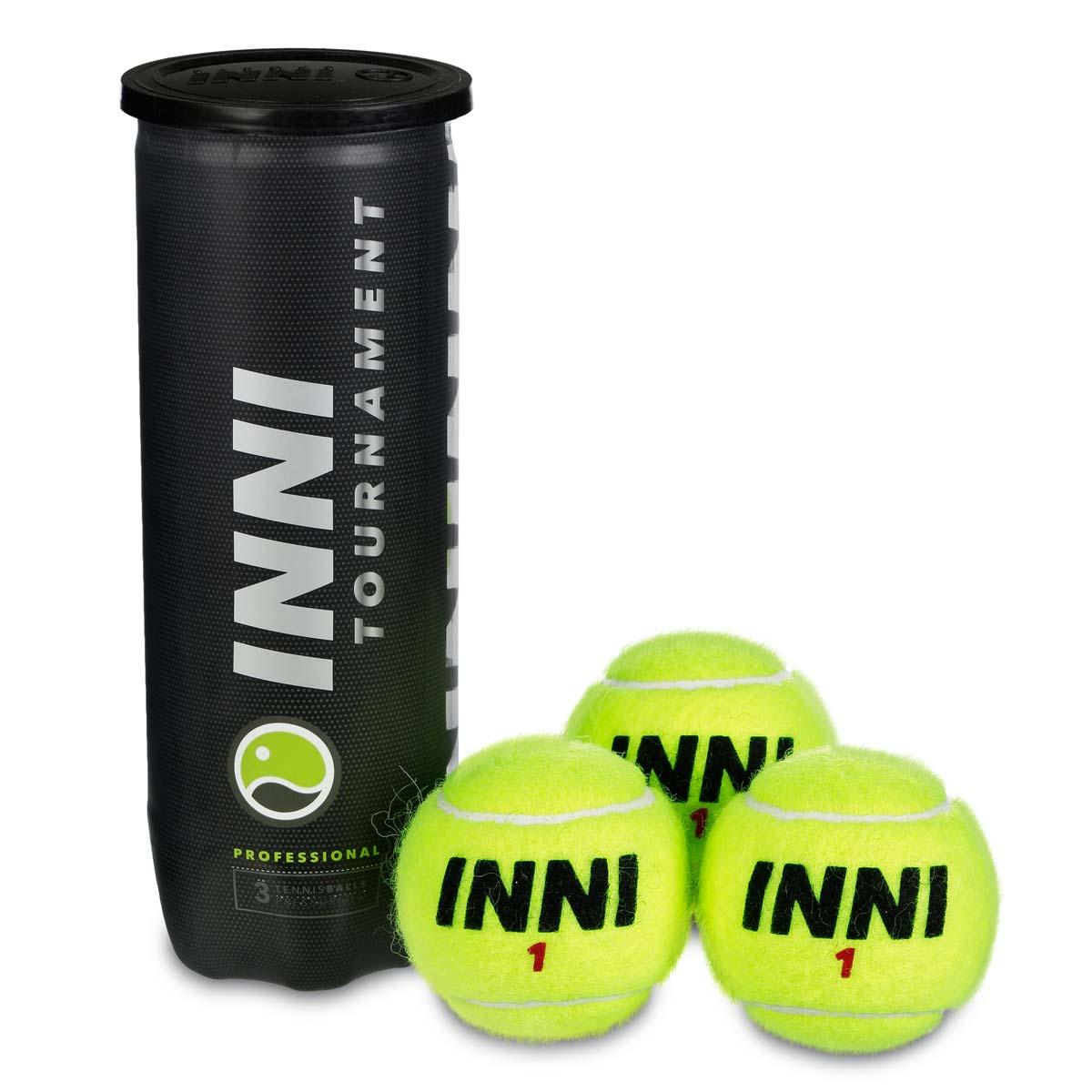Bola de Tênis Inni Tournament - Tubo c/ 3 bolas