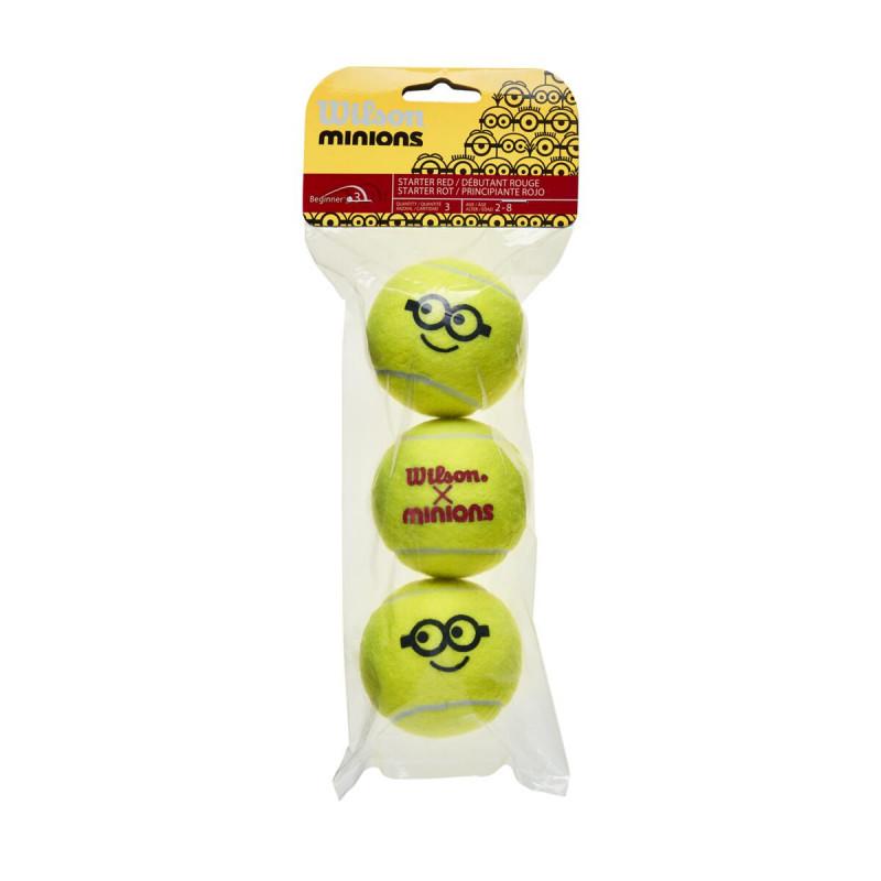 Bola de Tênis Minions Stage 3 - Pack com 3 bolas  - PROTENISTA