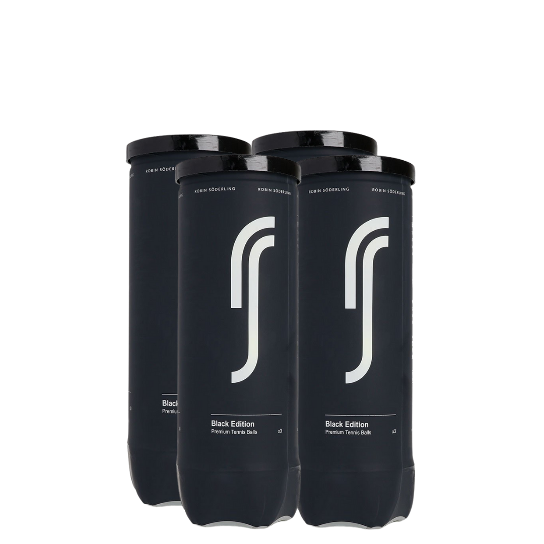 Bola de Tênis Robin Söderling Black Edition Pack com 4 tubos  - PROTENISTA