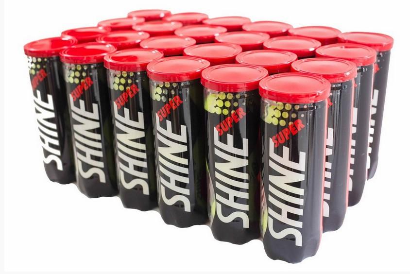 Bola de Tenis Super Shine - Caixa c/ 24 Tubos