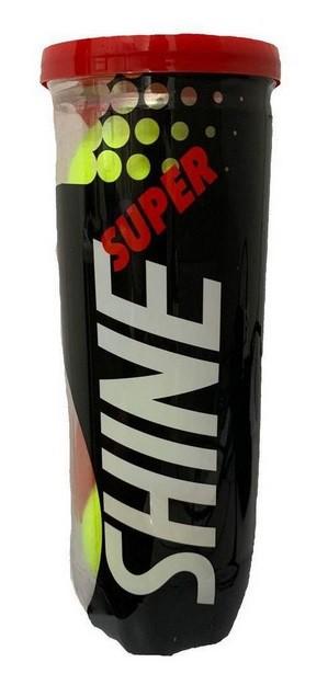 Bola de Tênis Super Shine - Tubo c/ 3 bolas  - PROTENISTA