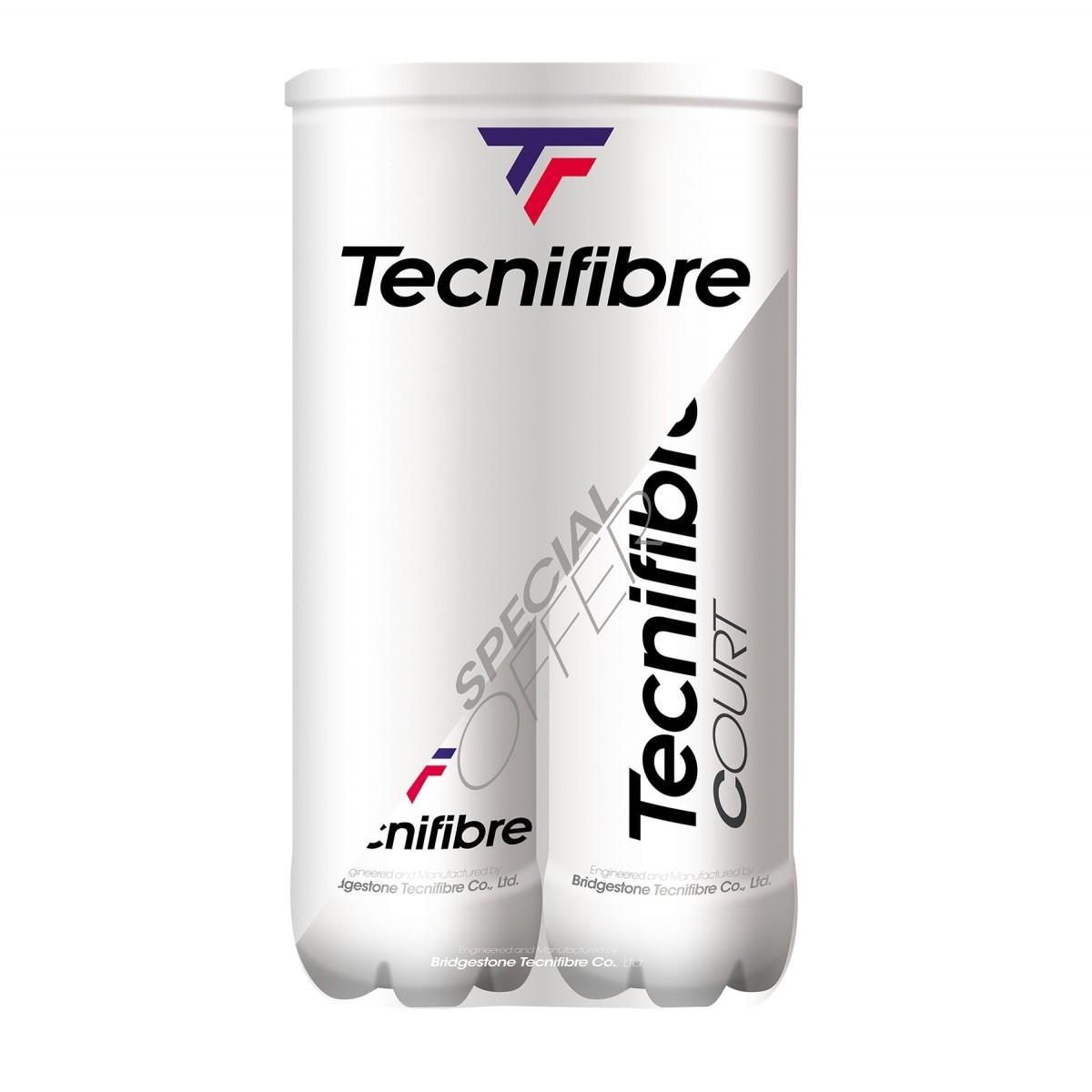 Bola de Tênis Tecnifibre Court - Pack com 2 Tubos  - PROTENISTA