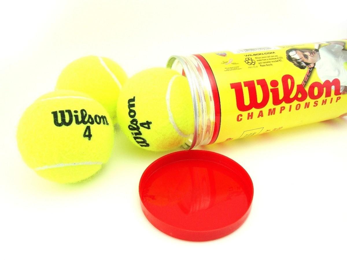 Bola de Tênis Wilson Championship - Extra Duty - Tubo c/ 3 Bolas
