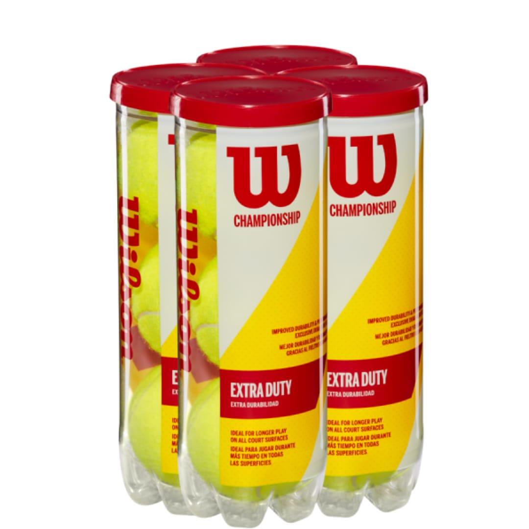 Bola de Tênis Wilson Championship - Pack com 4 Tubos  - PROTENISTA