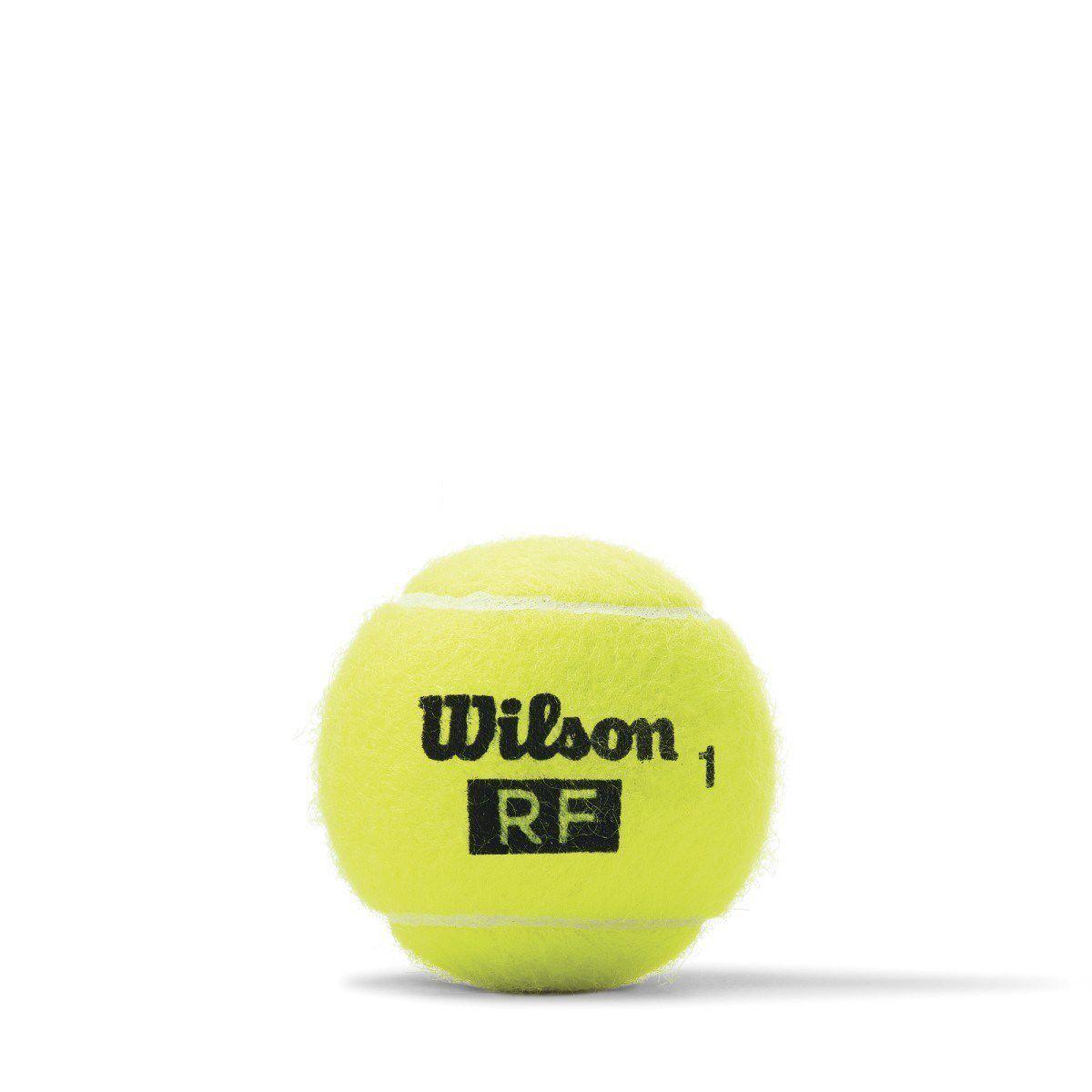 Bola de Tênis Wilson Federer Legacy All Court - Tubo com 04 bolas