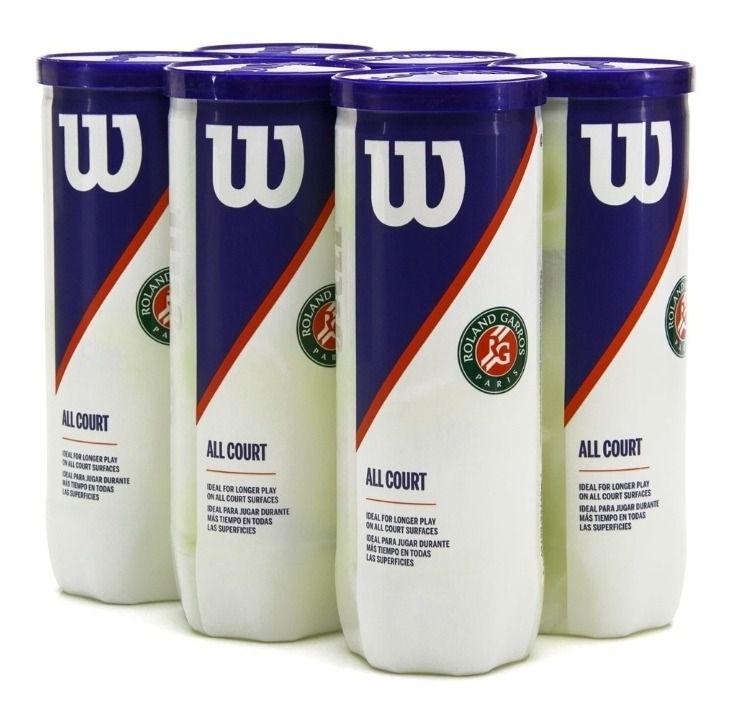 Bola de Tênis Wilson Roland Garros - All Court - Pack c/ 6 Tubos