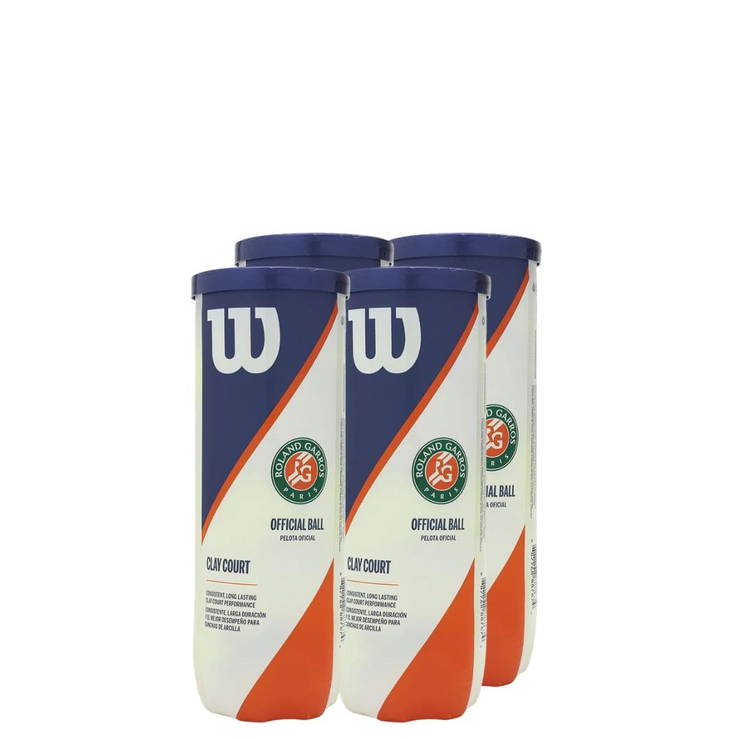 Bola de Tênis Wilson Roland Garros Oficial Clay - Pack com 4 tubos  - PROTENISTA