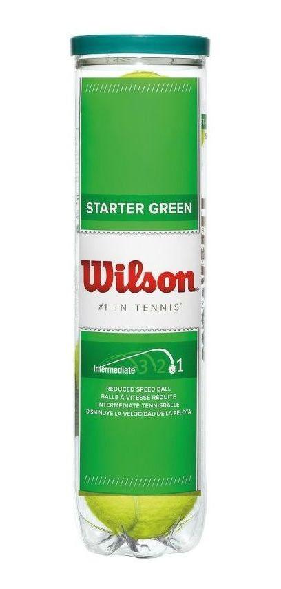 Bola De Tênis Wilson Starter Play Ball Verde - Tubo c/ 4 Bolas   - PROTENISTA