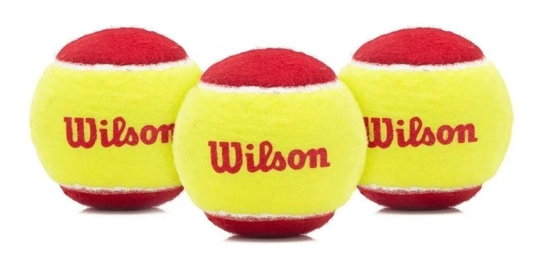 Bola De Tênis Wilson Starter Stage 3 Itf - Pack c/ 3 Bolas   - PROTENISTA