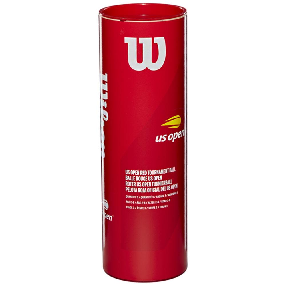 Bola de Tênis Wilson US Open Vermelha - Estágio 3 - Tubo com 3 bolas  - PROTENISTA