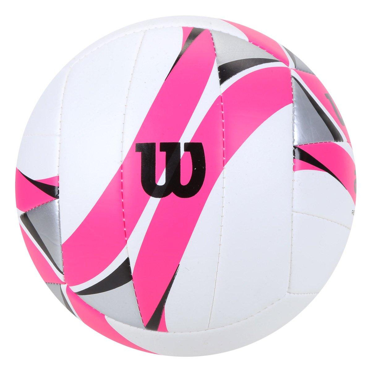 Bola de Vôlei Wilson AVP II Replica - Branca com Pink  - PROTENISTA